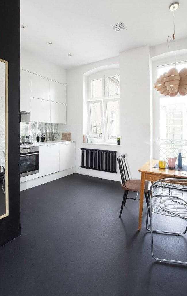 наливна підлога на кухні